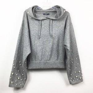 Zara Sweaters - Zara SOFT Knit Hooded Sweater with Pearls